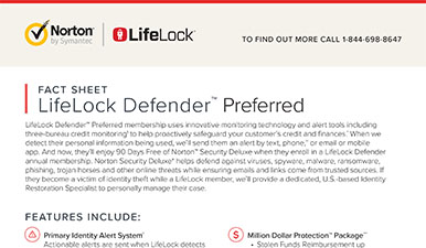 LifeLock Defender Preferred Fact Sheet
