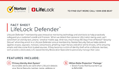 LifeLock Defender Fact Sheet
